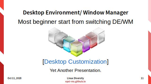 Slide - Modular Linux - DE/WM