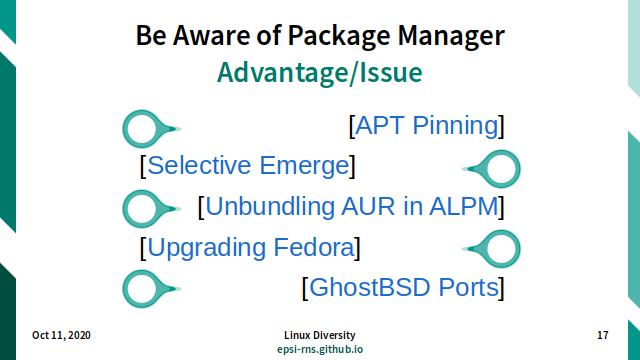 Slide - Package Manager - Advantage/Issue